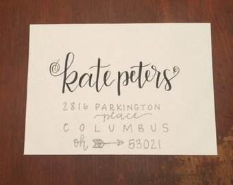Hand Lettered Envelopes / Wedding Calligraphy - Cutie Style