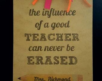 Personalized Teacher Gift/ Clipboard / End of Year/ Custom Teacher Gift/ Teacher Appreciation