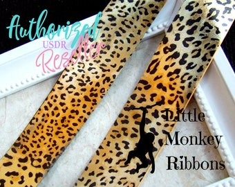 "Leopard print ribbon, 38mm 1.5"" and 75mm 3"" grosgrain ribbon, foil print ribbon, grosgrain ribbon"