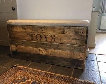 storage bench, toy box, toy storage, wooden toy box, storage box, storage bench with seat, personalized toy box, toy box with padded seat