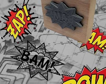 Bam Pop Art Rubber Stamp