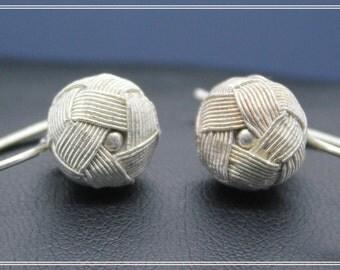 Silver Bulb Earrings