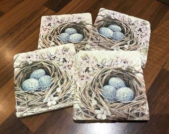 Vintage Nest Coasters Handmade