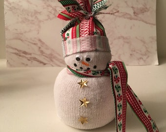 Christmas Snowman, Stocking Stuffer, Christmas Decor