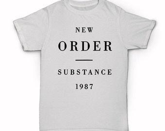 New Order T-shirt - Substance - 1987 - Bizarre Love Triangle - Blue Monday - 80s group band