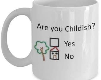 Funny Psychology Mugs - Are You Childish? - Ideal Psychologist Gifts