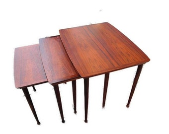 Danish Mid-Century Nesting Tables in Rosewood