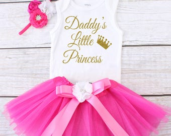 Daddy's Little Princess. Baby Tutu Outfit. Girl's Outfit. Girl's Tutu Outfit. Girls Tutu Set. Girl's Clothing. Daddy's Girl Outfit.
