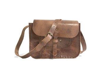 Leather purse, Crossbody leather bag, Black handbag, shoulder bag, Saddle bag purse, Leather satchel, Vintage leather bag