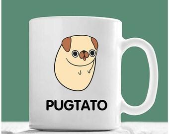 Pug Mug, Pugtato, Pug Coffee Mug, Pug Dog Gifts, Pug Gifts, Pug Mom, Pug Gifts For Women, Gifts For Pug Lovers, Pug Coffee Cup