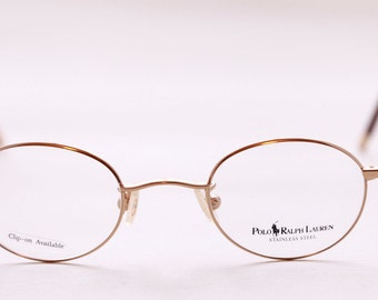 Ralph Lauren Small Round Glasses 445 In Gold Finish
