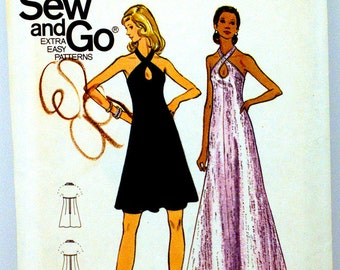 Butterick 6923 Free Shipping Miss Dress and Gown Size 14  UNCUT
