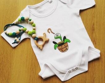 Baby Turtle Bodysuit 100% Cotton