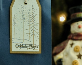O Holy Night Gift Tags Set of 4 (identical)