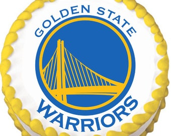 Golden State Warriors Edible Cake Topper