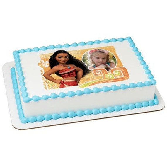 Moana The Wayfinder Picture Frame Edible Cake Topper