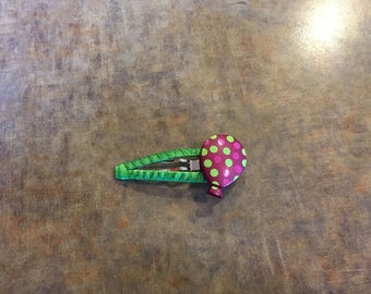 Spotted balloon hair clip