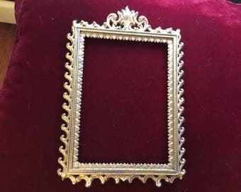 Italian Ornamental Brass frame 9 1/2 by 6 1/2