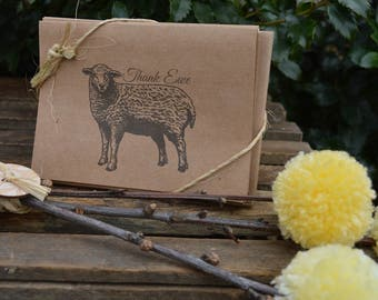 Thank Ewe Cards - Sheep thank you - Farm thank you - thank you note