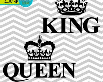 King and Queen designs Receive  SVG AI PNG Dxf images instantly