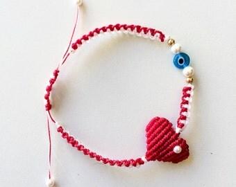 Handmade Macrame Friendship March bracelet