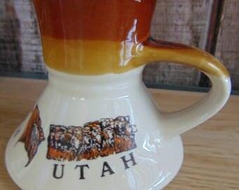 Utah No Spill Mug / Vintage Utah No Spill Mug