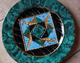 Stone Effect decorated porcelain plate