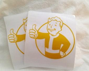 Fallout Vault Boy vinyl decal, Fallout decal, Vault boy sticker, gifts under 5