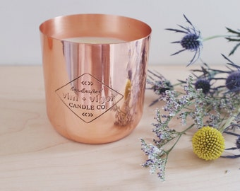 Handmade Soy Candle | Copper Candles | Housewarming Gift