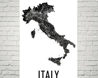 Italy Map, Map of Italy, Italy Wall Art, Italy Print, Italy Poster, Italian Decor, Italian Art, Italy Gifts, Italian Map, Italian Print