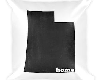 Utah Pillow, Utah Gifts, Utah Decor, Utah Home, Utah Throw Pillow, Utah Art, Utah Map, Utah Made, Utah Cushion, Utah State, Utah Home State