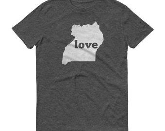 Uganda, Ugandan Clothing, Uganda Shirt, Uganda T Shirt, Uganda TShirt, Uganda Map, Uganda Gifts, Made in Uganda, Uganda Love Shirt