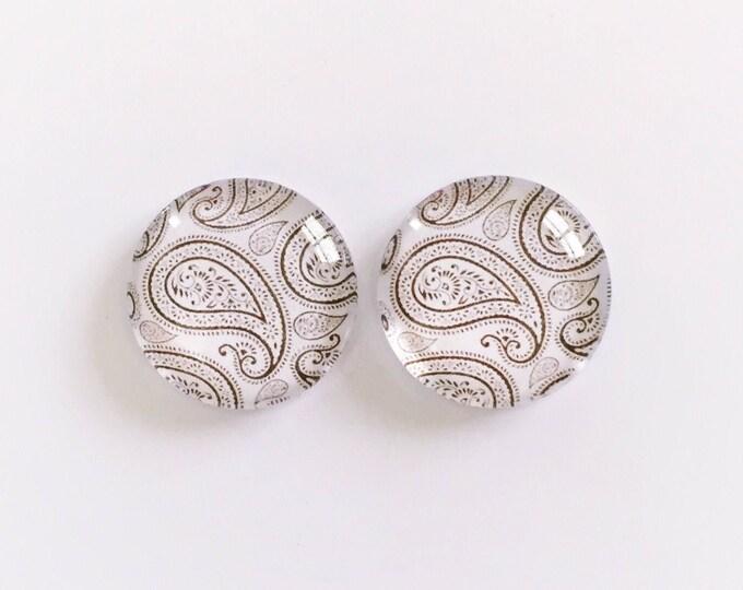 The 'Kimberly' Glass Earring Studs
