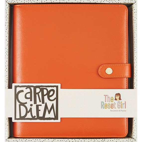 Carpe Diem The Reset Girl A5 Planner Binder ONLY Persimmon
