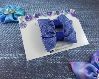 Glitter Bow Tie Hair Clip - Set of 2