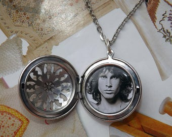 Jim Morrison Pendant Necklace Locket - Jim Morrison keychain Locket - 1.2 inch