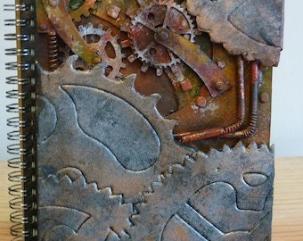 Journal,steampunk,coge,gears,