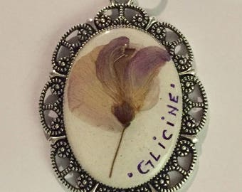 Necklace with flower of wisteria, Wisteria flower Necklace