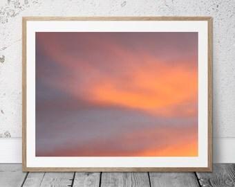 Nature Photography, Printable, Pink Clouds, Sky, Sunrise Photo, Cloud Art