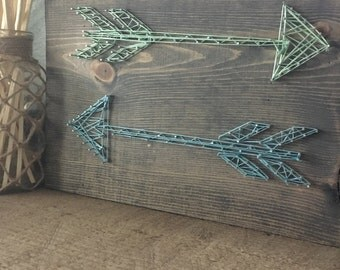 Two Arrows String Art Wall Plaque