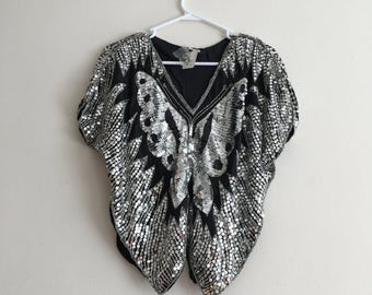 Disco Butterfly Sequin Fantasy Top