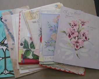 SALE 32 Vintage Used Greeting Cards Christmas Birthday Sympathy Scrapbooking