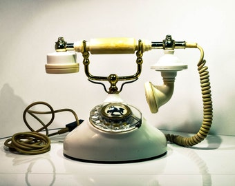 SALE Original Soviet Retro Telephone 1987. Vintage Rotary Telephone. Nostalgic Telephone. Rare Old Phone