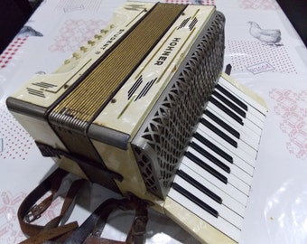 Hohner Piano Accordeon Art Deco vintage music instrument