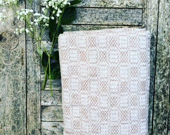 HOUSE OF BEULAH Arabesque Blanket & Throw - 100% Cashmere, Mocha