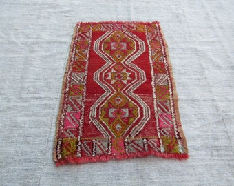"Turkish Small Kilim,1'7""x2'5""feet,52x77cm, Turkish Colorful Vintage Kilim Rug,Anatolian Turkish vintage Kilim Rug"
