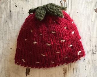 Handmade Strawberry Baby Hat