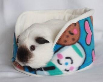 Soft Fleece Bed Cuddle cup Guinea Pig Rat Hedgehog - cookies&milk fleece