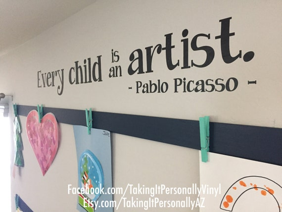 Every Child Is An Artist Wall Vinyl