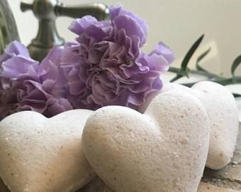 Bath Bombs-  Specialty Bath Bombs - Himalayan Salt - Heart - Heart Shaped